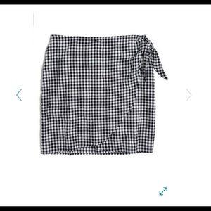 Madewell Wrap Gingham Skirt